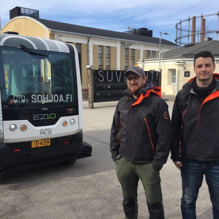Autonomous bus in Helsinki Suvilahti