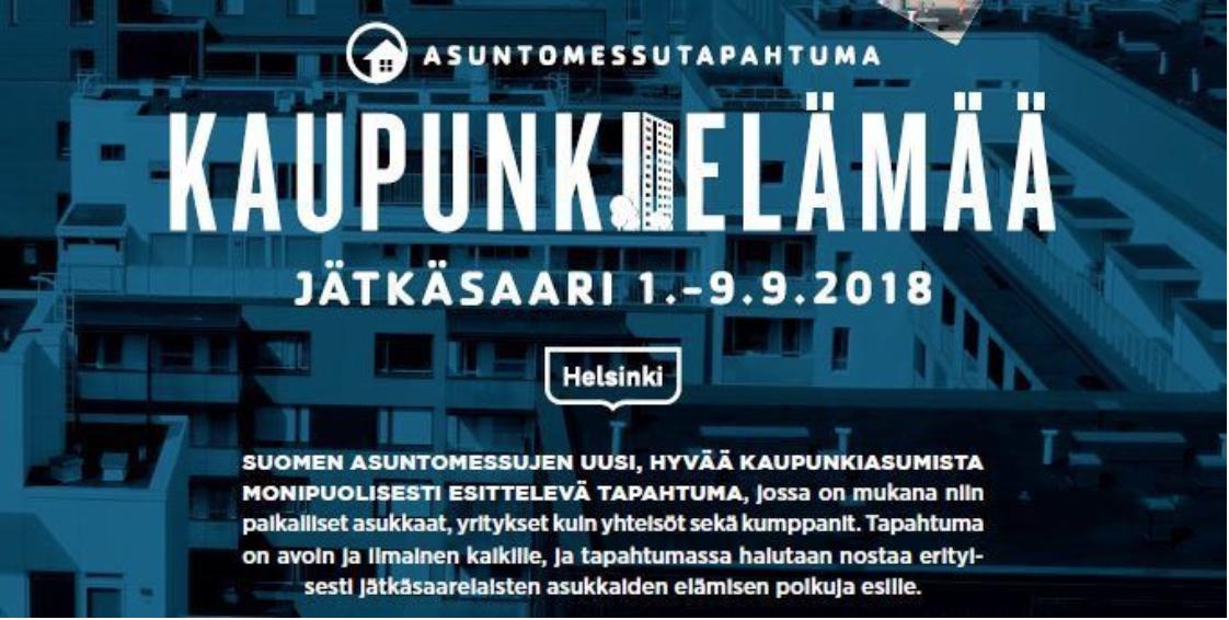 Kaupunkielämää Jätkäsaaressa 1.-9.9.2018