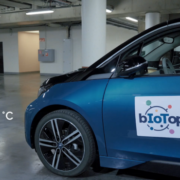 biotope electric car and parking