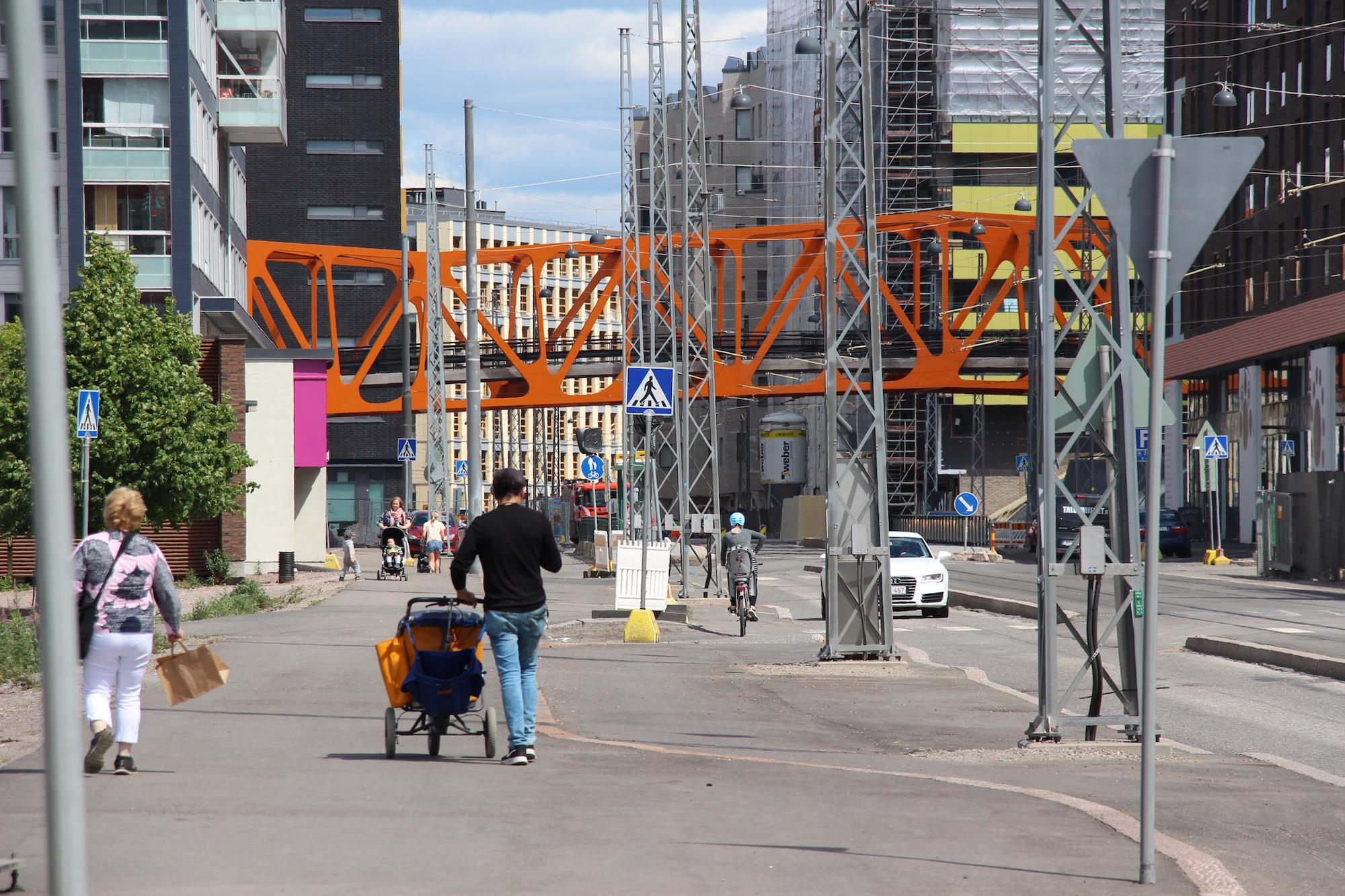 Suomen urbaanein älyliikenteen testialue Helsingin Jätkäsaareen