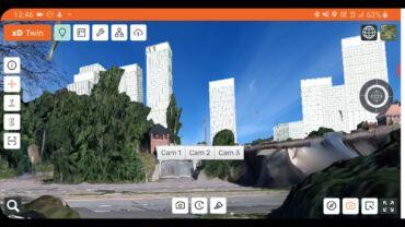 5G AR Eläintarhan parkki ruutukaappaus xDVisuals Oy Urban Sense